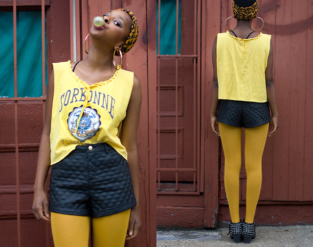 DIY Loose Crop Tee Made Of Male T-Shirt Result