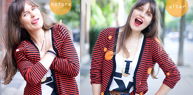 Felting DIY Project About How To Repair Sweater Before After