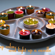DIY Wine Cap Tea Candles