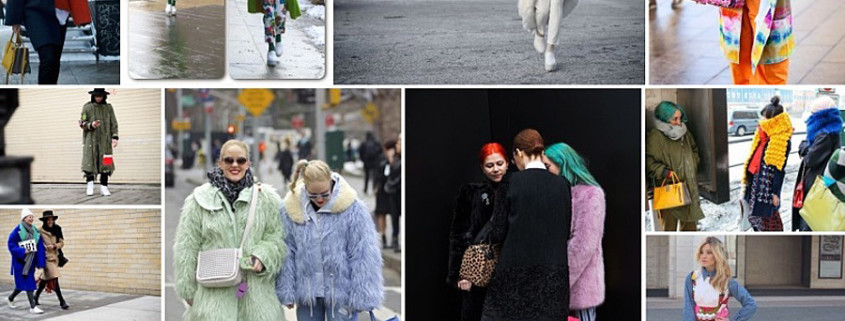Colorfully Bizarre Street Fashion at New York Fashion Week 2015