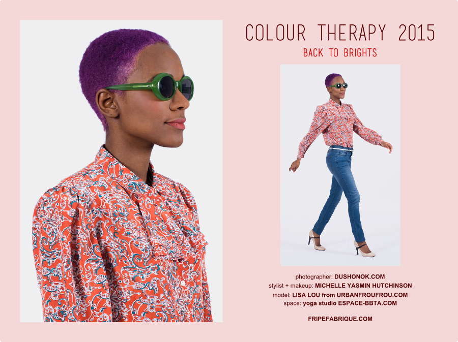 Color Therapy: Vintage Blouse and Monkey Genes jeans (Collaboration With FripeFabrique)