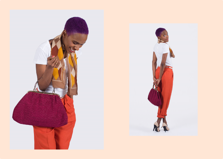 Color Therapy: Vintage Bag And Vintage Pants (Collaboration With FripeFabrique)
