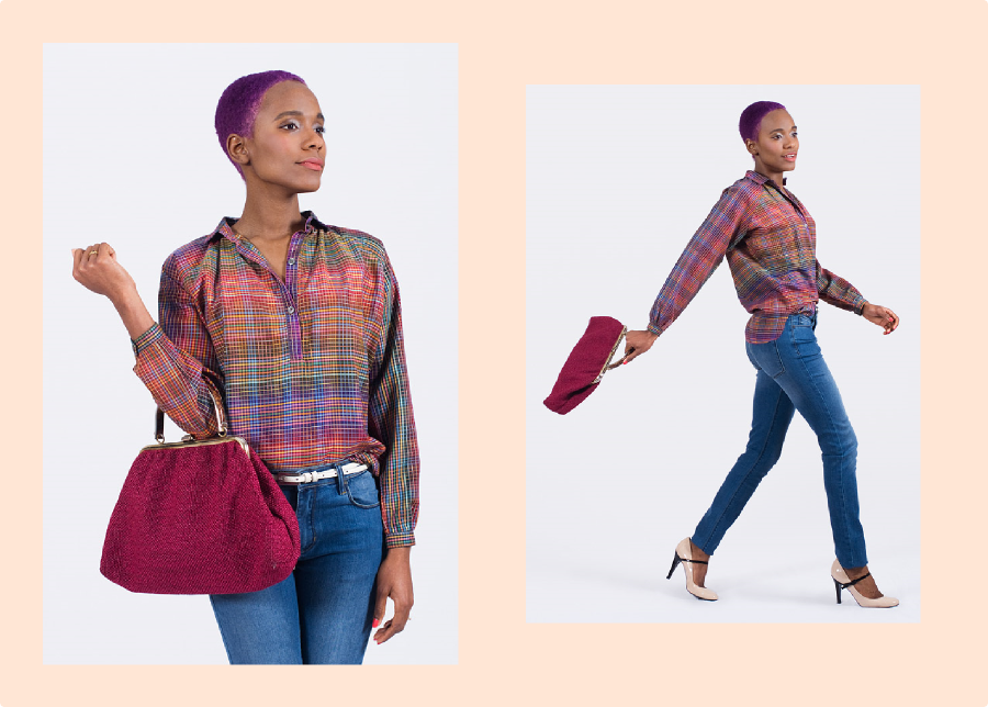 Color Therapy: Vintage Blouse and Vintage Bag (Collaboration With FripeFabrique)