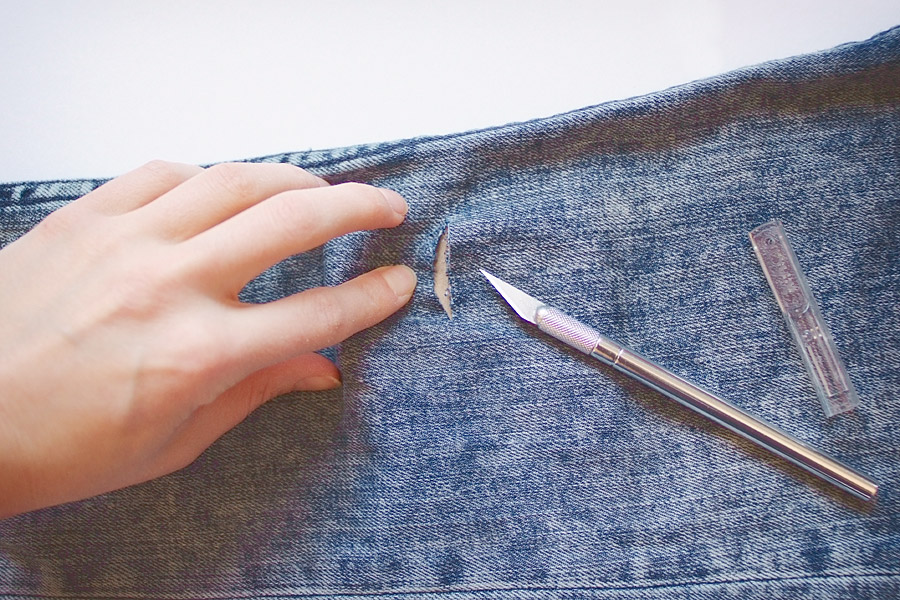 How to Make Holes In Jeans DIY Steps