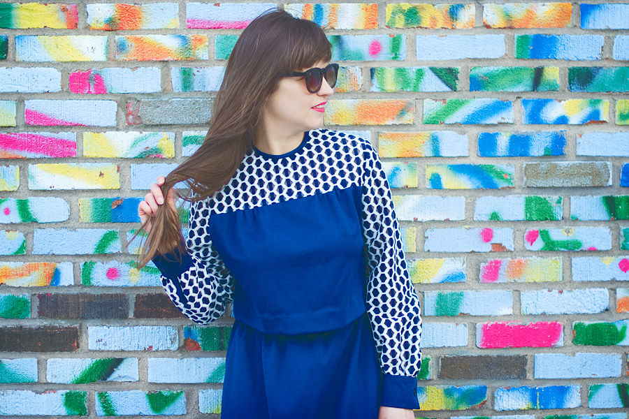 Spring DIY convert a vintage dress into a two-piece set: Result