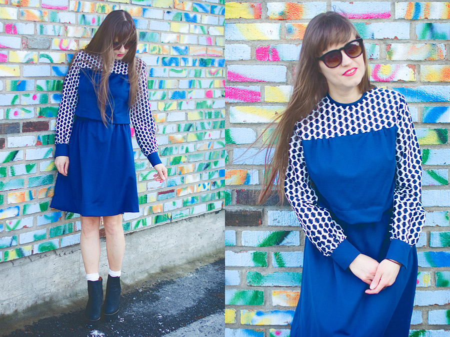 Spring DIY convert a vintage dress into a two-piece set: Styling