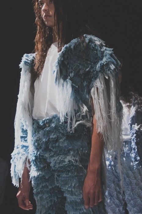 Frayed Hems Are The New Fringe For Denim: Faustine Steinmetz SS15 by dazeddigital.com