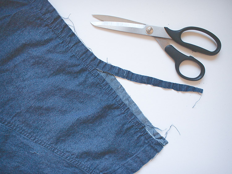 Frayed Hem Denim Cardigan DIY Steps