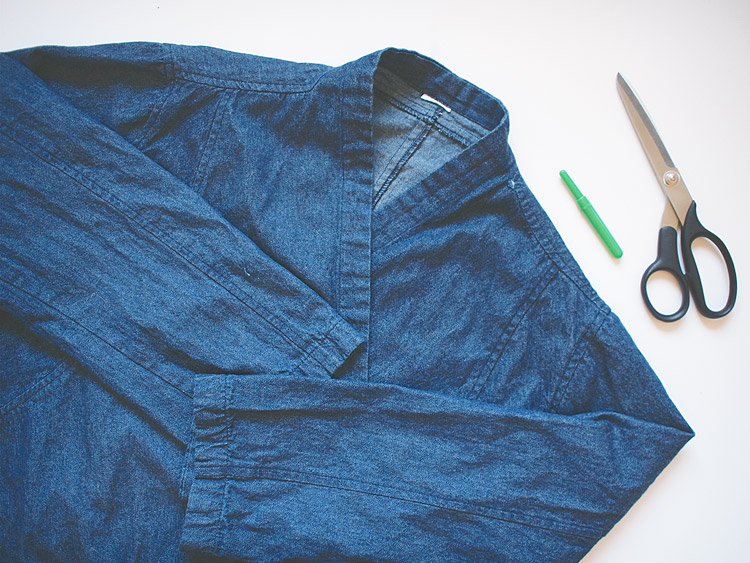 Frayed Hem Denim Cardigan DIY Supplies