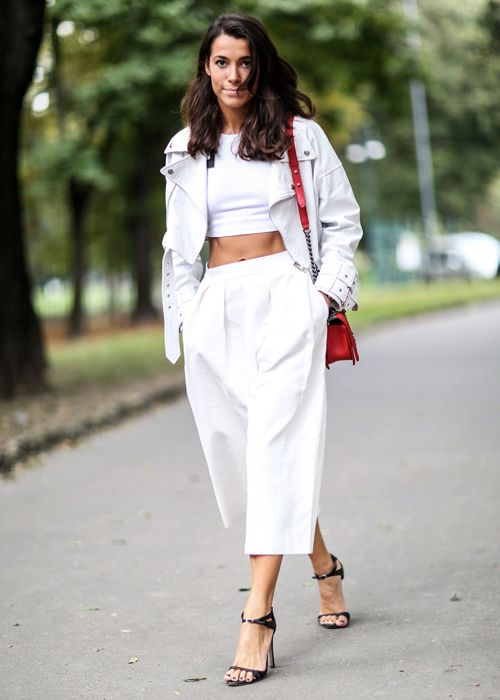 How To Wear Crop Top With Culottes