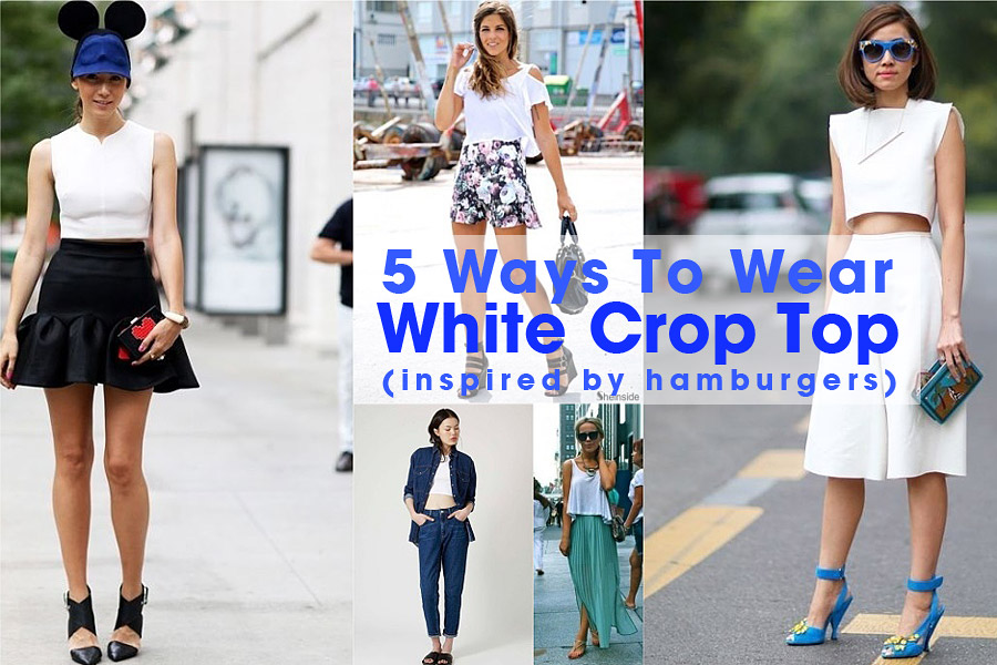 How To Wear Crop Top In White