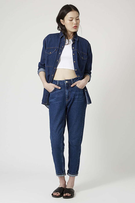 How To Wear Crop Top With High Rise Jeans