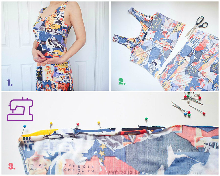 Summer DIY: Two Piece Set Made of a Vintage Dress Steps