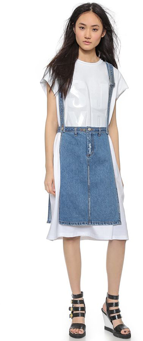 How To Wear Denim Skirt: Denim Apron