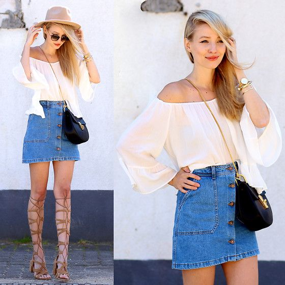 How To Wear Denim Skirt: 9 Jean Skirt Outfits
