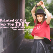 Hand Printed Open Back Crop Top DIY