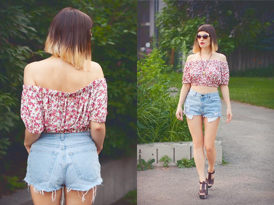 Off-The-Shoulder Top DIY Result
