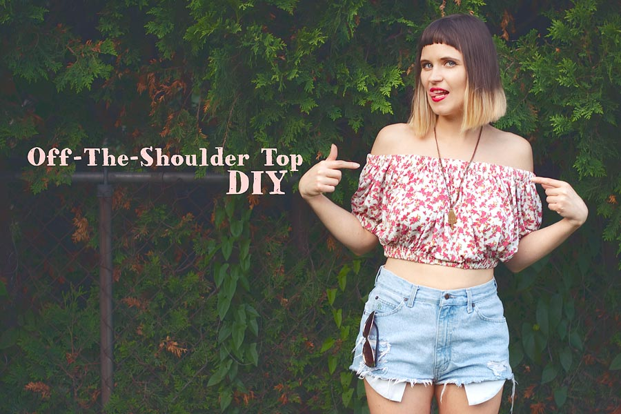 Off The Shoulder Top Diy Perfect Way To Fix Resting Bitch