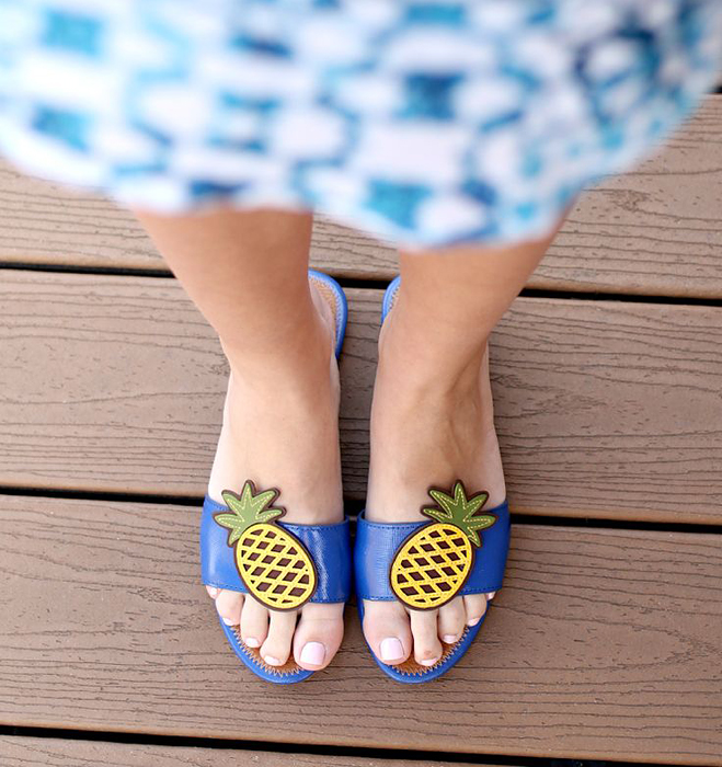Tory Burch Pineapple Sandals