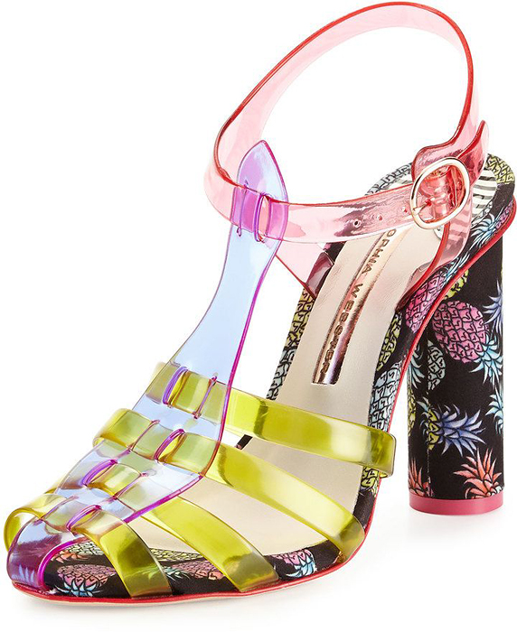 Sophia Webster Rosa Jelly Pineapple Shoes