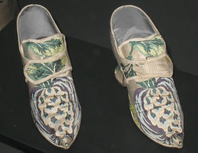 Historical Pineapple Shoes Made Of Silk c. 1735
